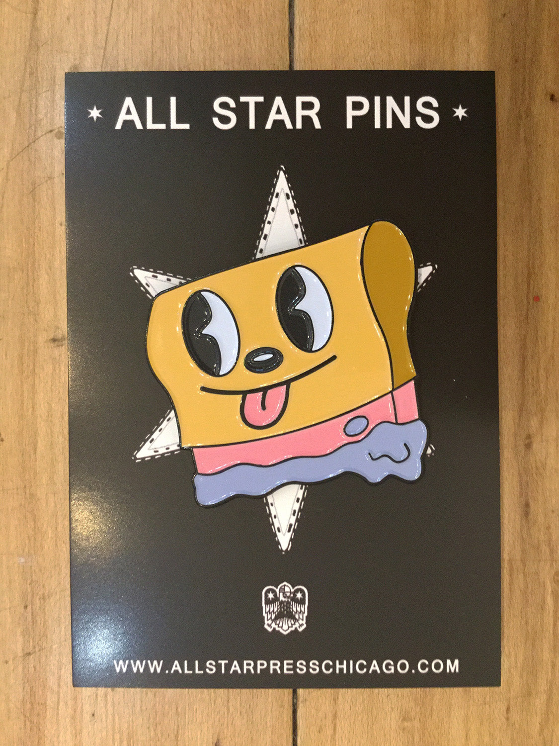 Happy Printing Pin by Blake Jones