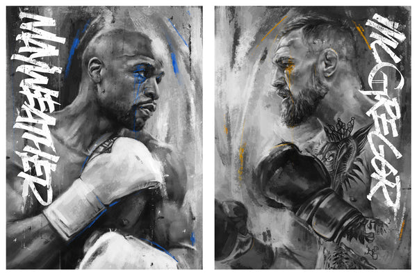 Mayweather & McGregor Print Set by Robert Bruno