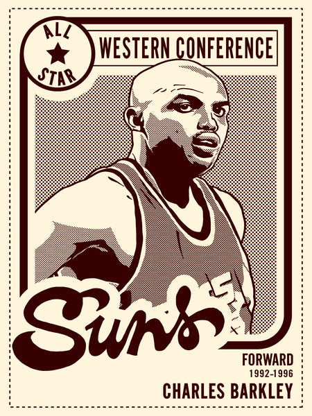 Charles Barkley All Star Print by Adam Shortlidge