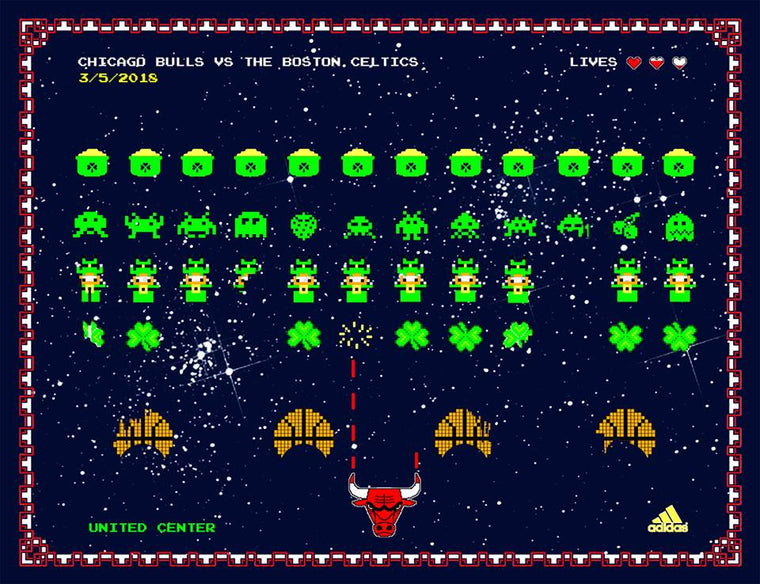 Chicago Bulls Exclusive: Celtics VS Bulls Print by Zissou Tasseff-Elenkoff