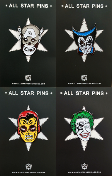 Comic Mashup Pin Pack