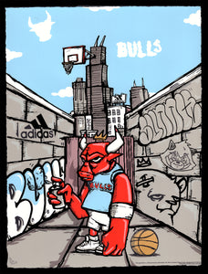 """HAND-EMBELLISHED Officially Licensed Chicago Bulls ""Jordan"""" by JC Rivera"