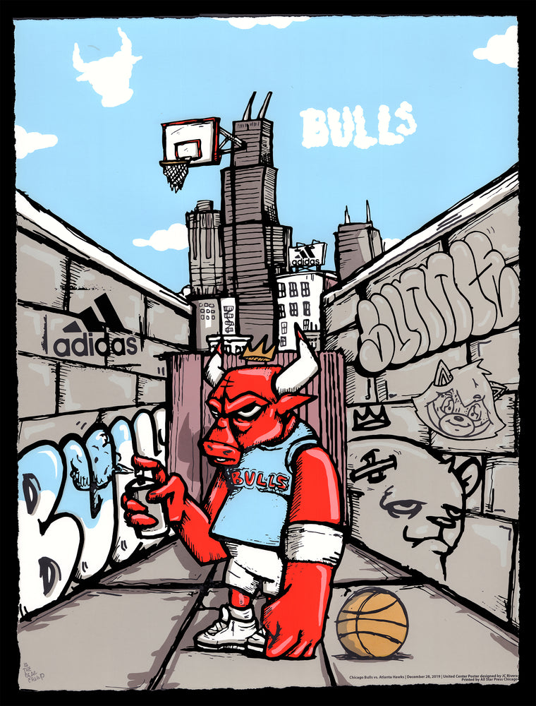 HAND-EMBELLISHED Officially Licensed Chicago Bulls