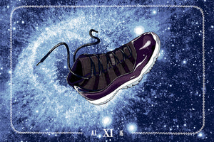 Air Jordan Space Jam 11 Print by Zissou Tasseff-Elenkoff