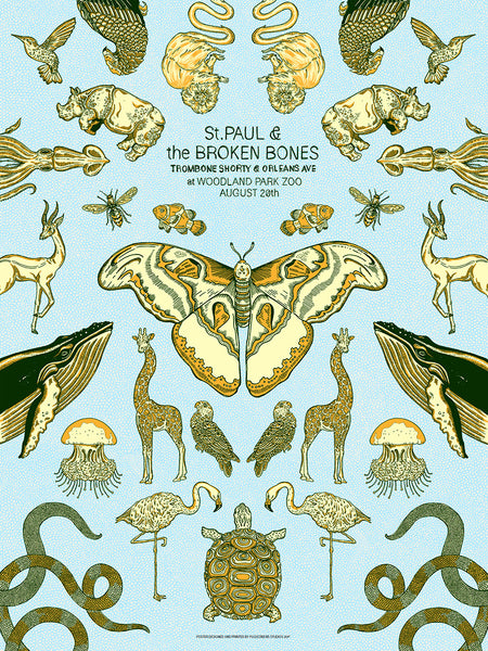 St. Paul & The Broken Bones 2017 Print by Zissou Tassef-Elenkoff