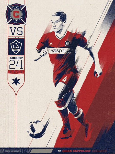 Chicago Fire VS LA Galaxy Print by Delicious Design League