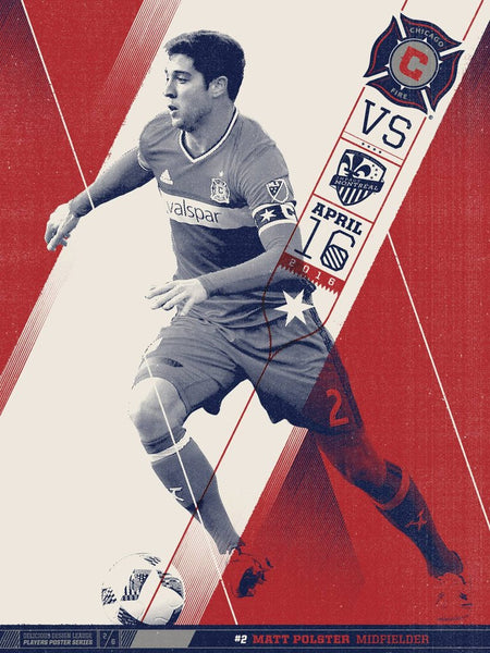 Chicago Fire VS Montreal Print by Delicious Design League