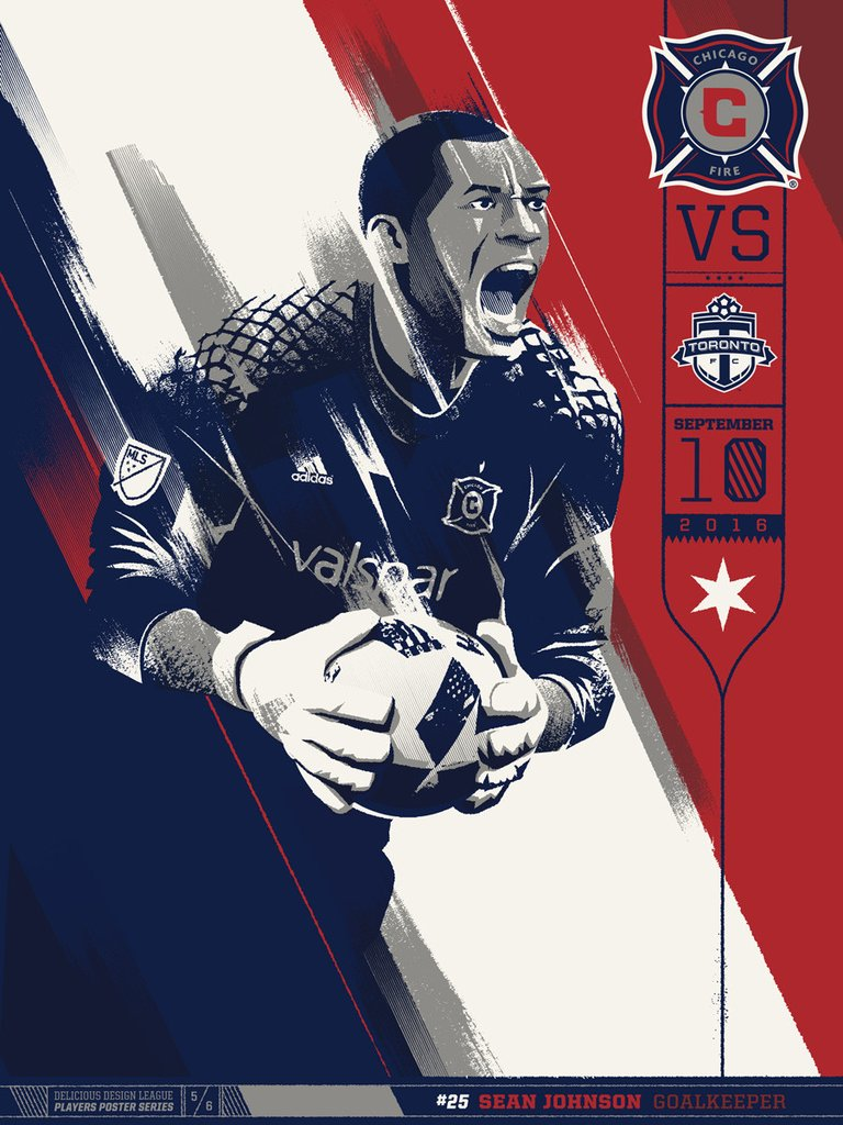 Chicago Fire VS Toronto Print by Delicious Design League