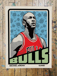 MJ Trading Card Print by Adam Shortlidge