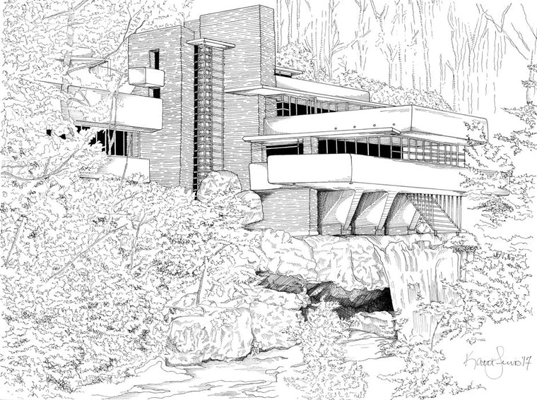 Falling Water Print by Kate Lewis