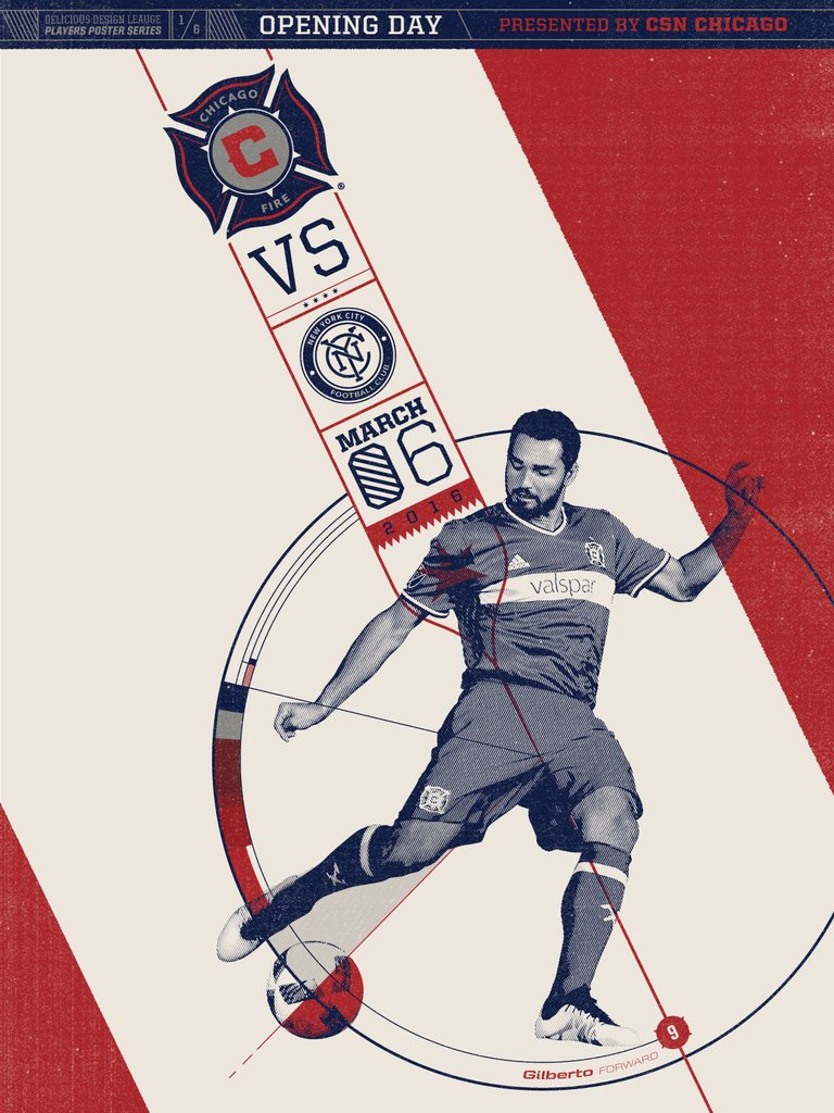 Chicago Fire VS NYC Print by Delicious Design League