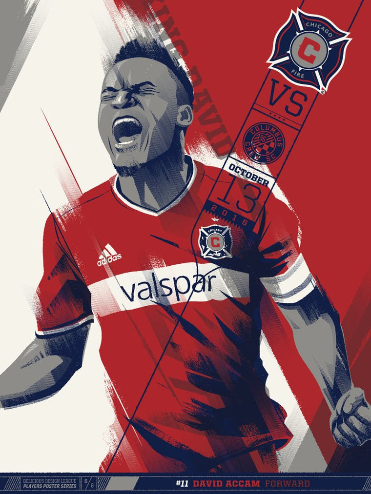 Chicago Fire VS Colombus Print by Delicious Design League