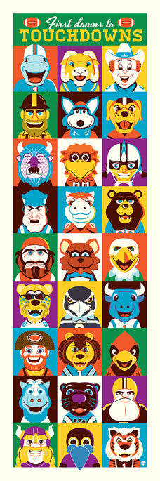 Football Mascot Print by Dave Perillo