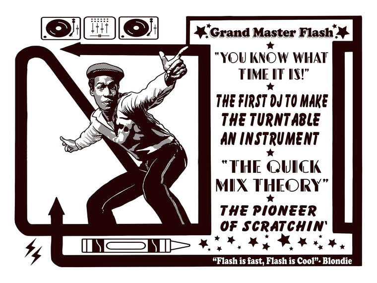 Grand Master Flash // Loaded Guns 2 Exclusive Print by Adam Shortlidge