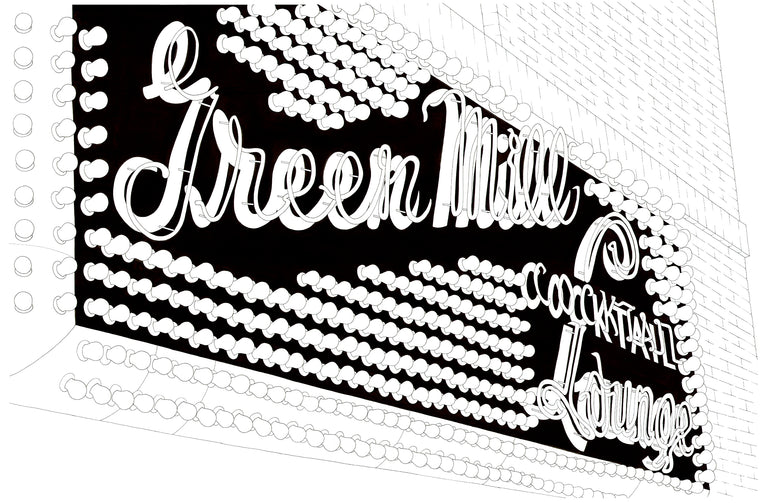 The Green Mill Theatre Print by Kate Lewis