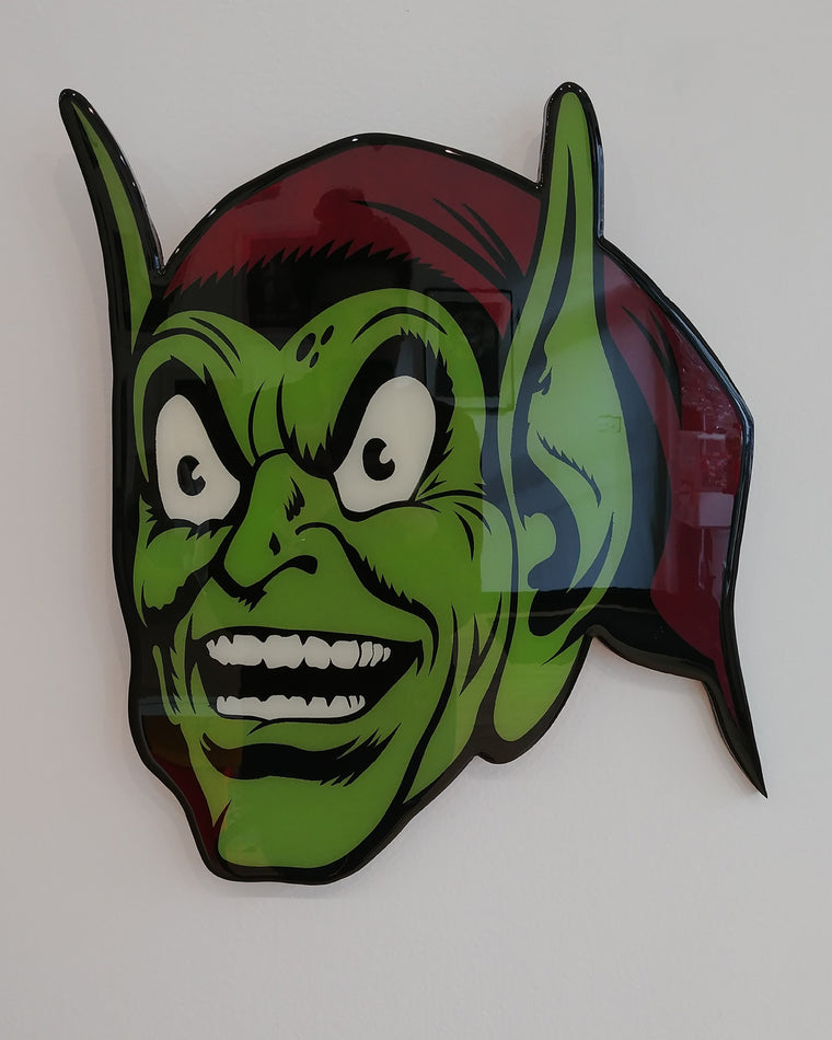 Green Goblin Plaque Original by R6D4