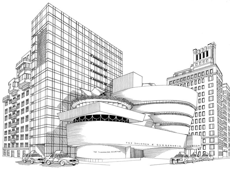 Guggenheim Museum Print by Kate Lewis