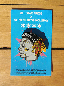 """Michael Myers Blackhawks Mashup"" Pin by Steven Holliday"