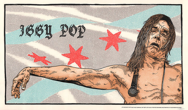 Iggy Pop at Riot Fest Chicago 2015 Variant Print