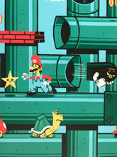 "Load image into Gallery viewer, ""Super Mario Brothers"" by Ian Glaubinger"