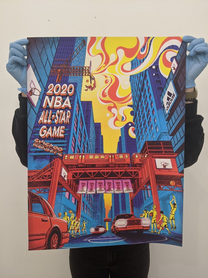 Officially Licensed Chicago Bulls All Star Game Poster by James Flames