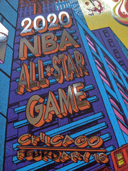 Officially Licensed Chicago Bulls All Star Foil Variant Game Poster by James Flames