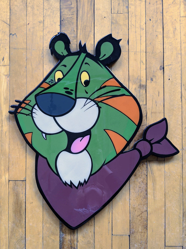 Tony the Battlecat Original Wood Cut by R6D4