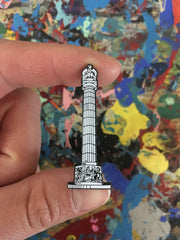 Logan Square Monument Pin by Kate Lewis