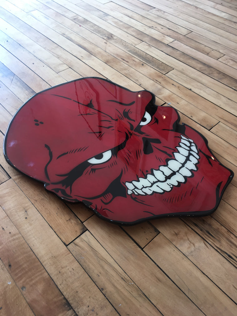 The Red Skull Original Wood Cut by R6D4