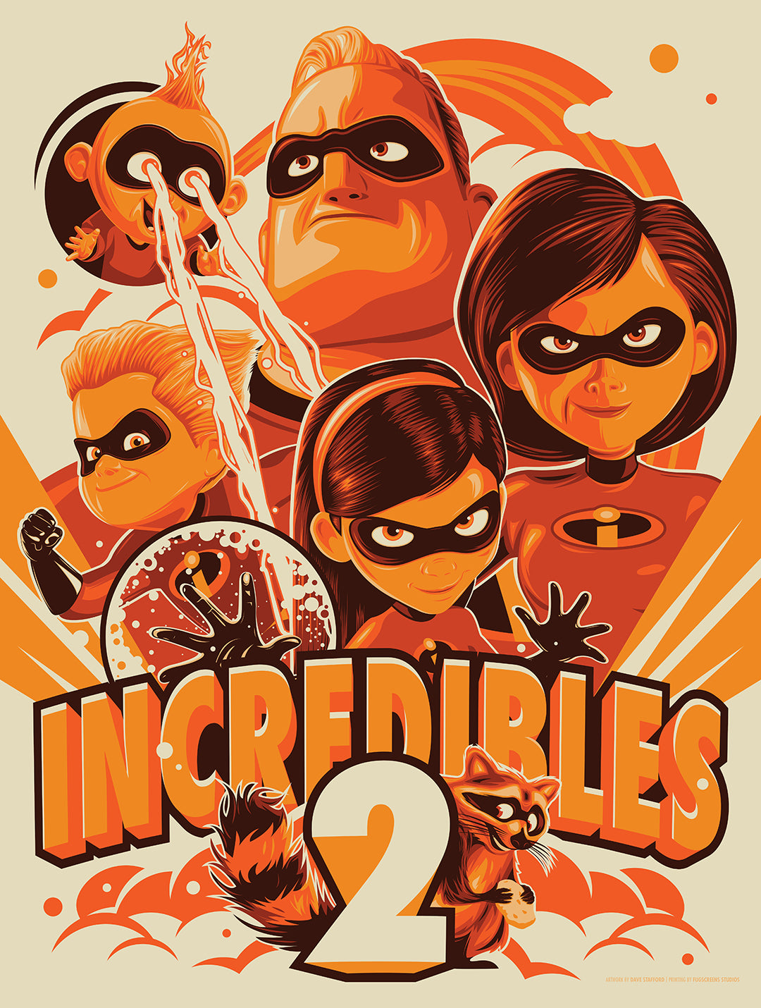 Incredibles 2 Poster by Dave Stafford