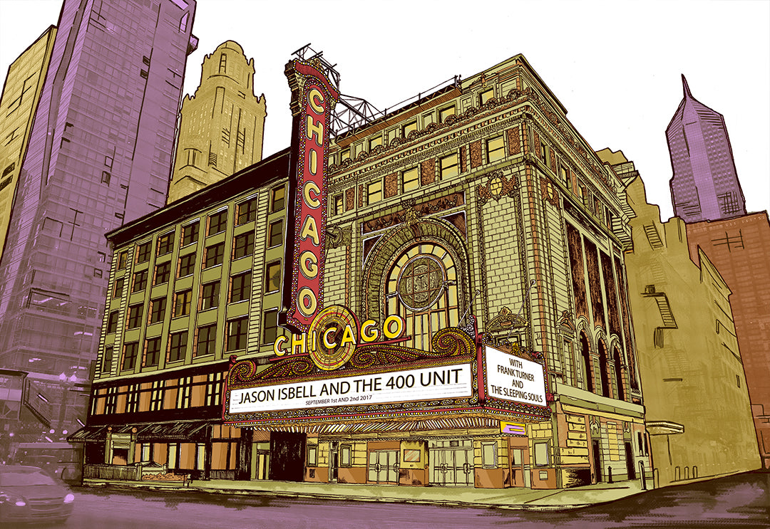 Jason Isbell & The 400 Unit at Chicago Theater 2017 Print by Fugscreens Studios