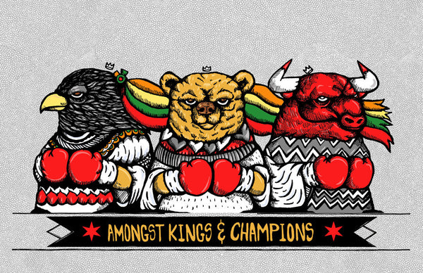 Amongst Kings & Champions Print by JC Rivera & Zissou Tasseff-Elenkoff