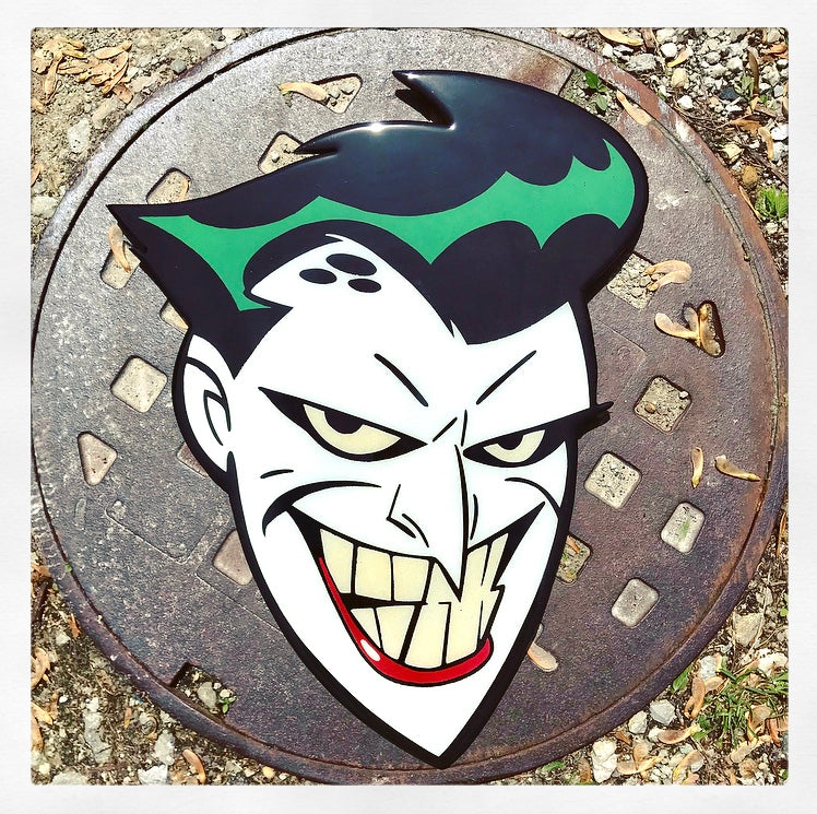 Jack Napier Joker Original Wood Cut by R6D4