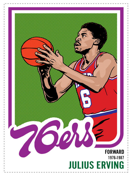 Julius Erving Print by Adam Shortlidge