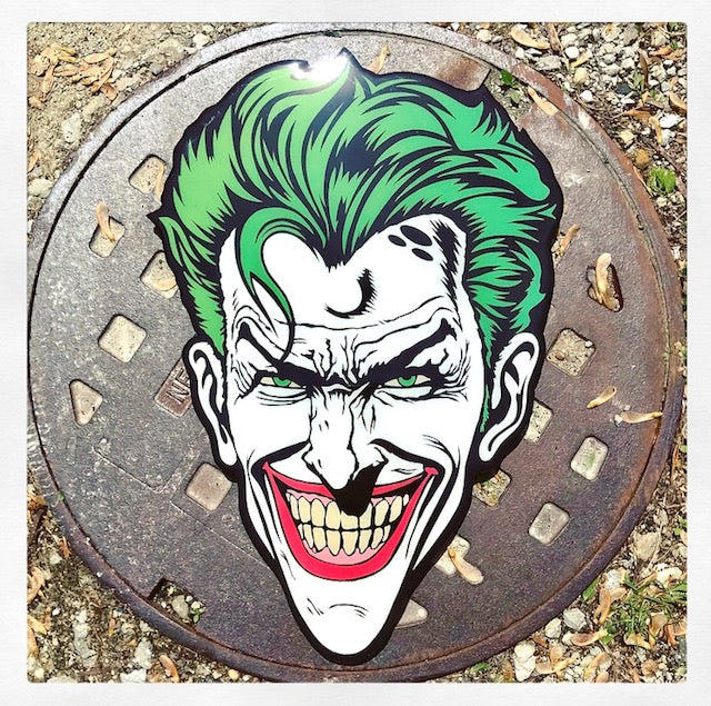 Killing Joke Joker Original Wood Cut by R6D4