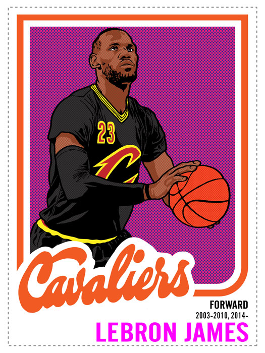 Lebron James Print by Adam Shortlidge