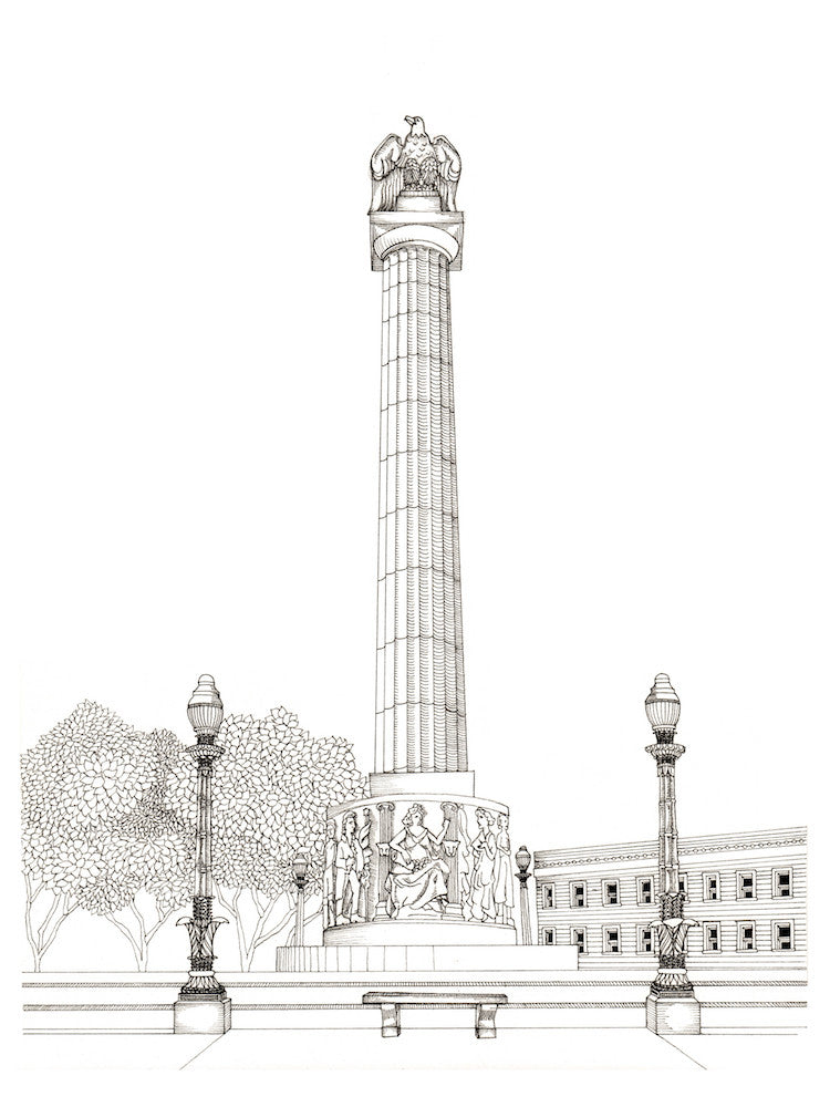 Logan Square Monument Print by Kate Lewis