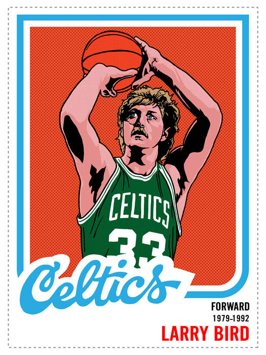 Larry Bird Print by Adam Shortlidge