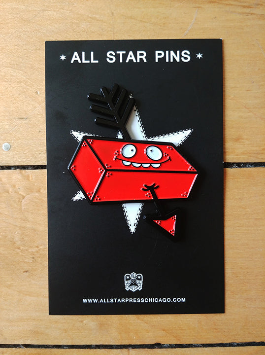 Brick & Arrow Enamel Pin by Lauren Asta