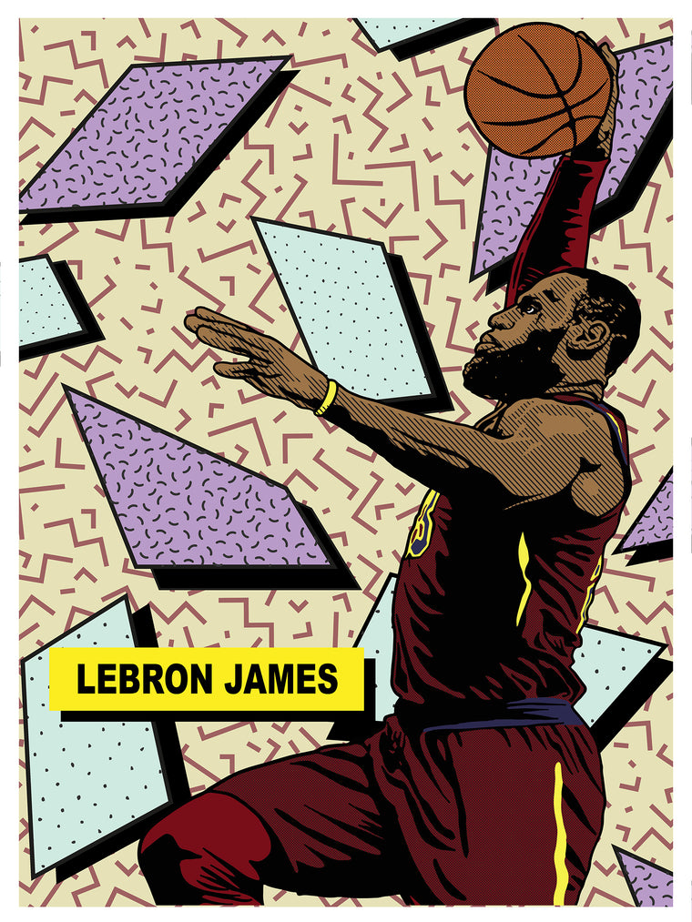 Lebron James All Star Print by Adam Shortlidge