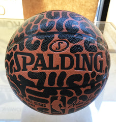 Painted Basketbal Original by LeftyOutThere