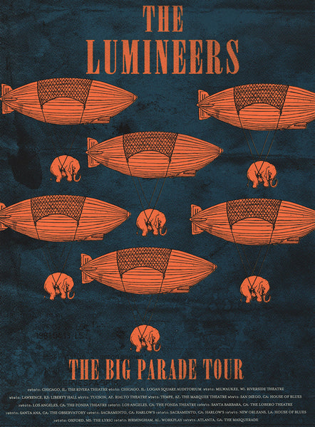 The Lumineers Poster Tour 2012 Print by Zissou Tasseff-Elenkoff