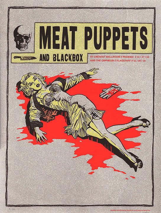 Meat Puppets & Blackbox at Cresent Ballroom 2015 Print
