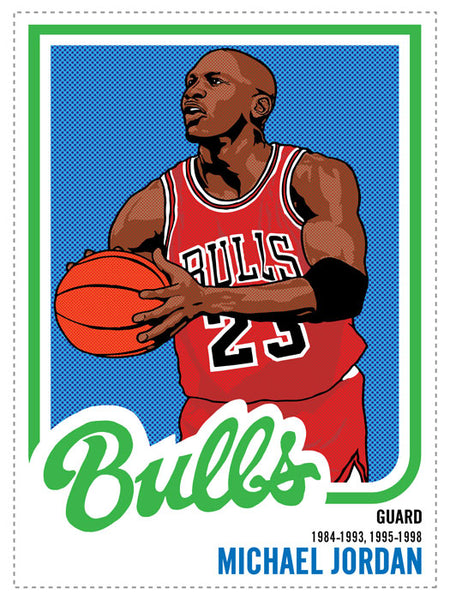 Michael Jordan Print by Adam Shortlidge