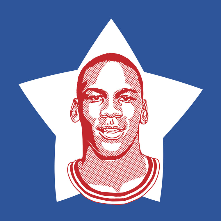 Rookie Jordan Print by Adam Shortlidge
