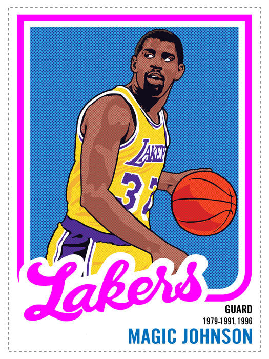 Magic Johnson Print by Adam Shortlidge
