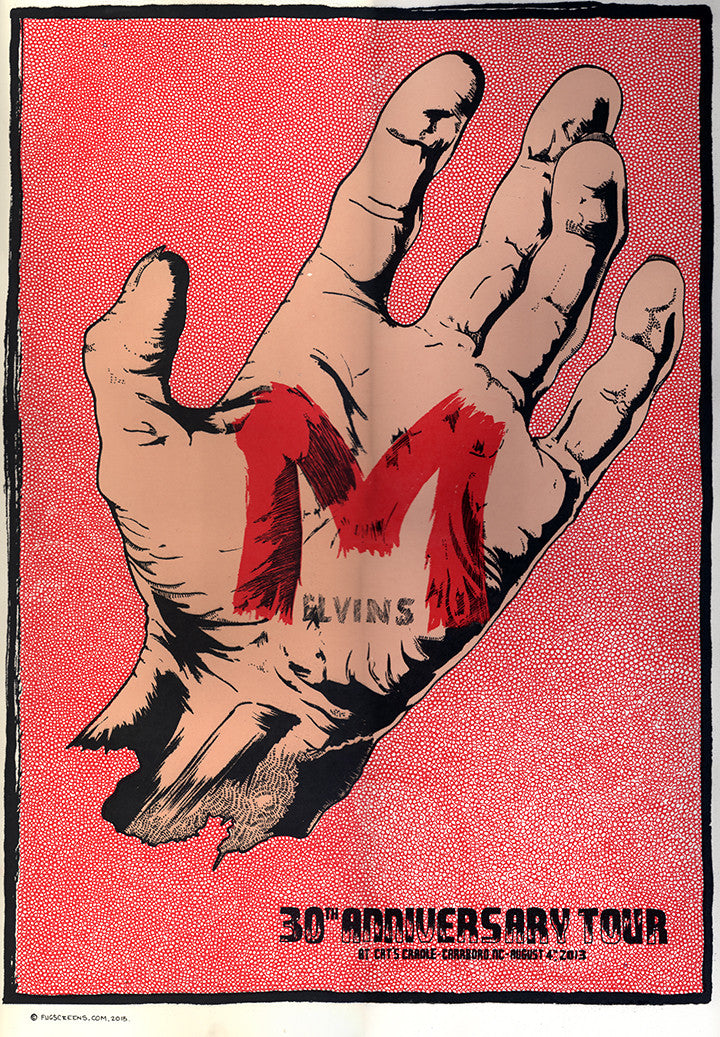 Melvins Poster-Carrboro 2013