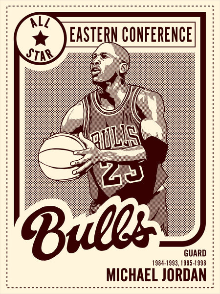 Michael Jordan All Star Print by Adam Shortlidge