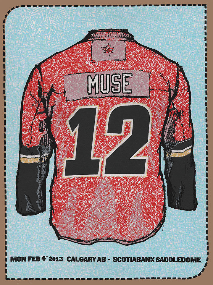 Muse Poster-Calgary 2013