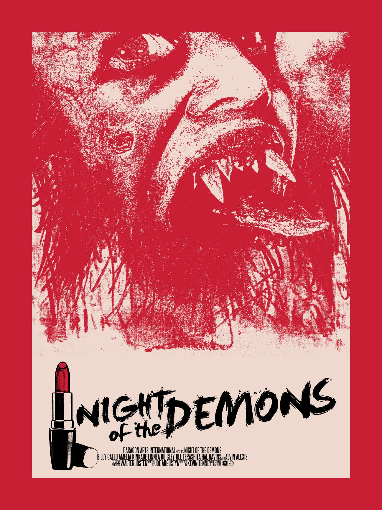 Night of The Demons (Red Variant) Print by Chris Garofalo